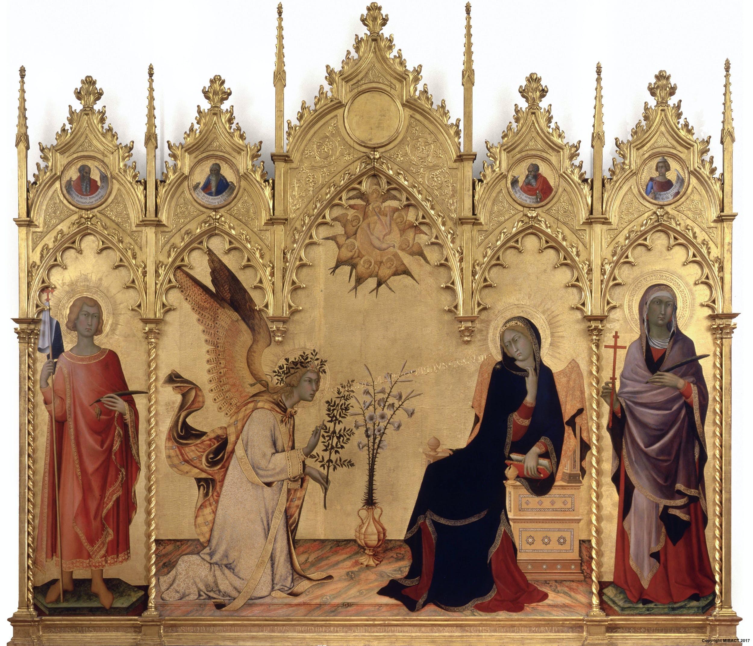 Anunciación entre los santos