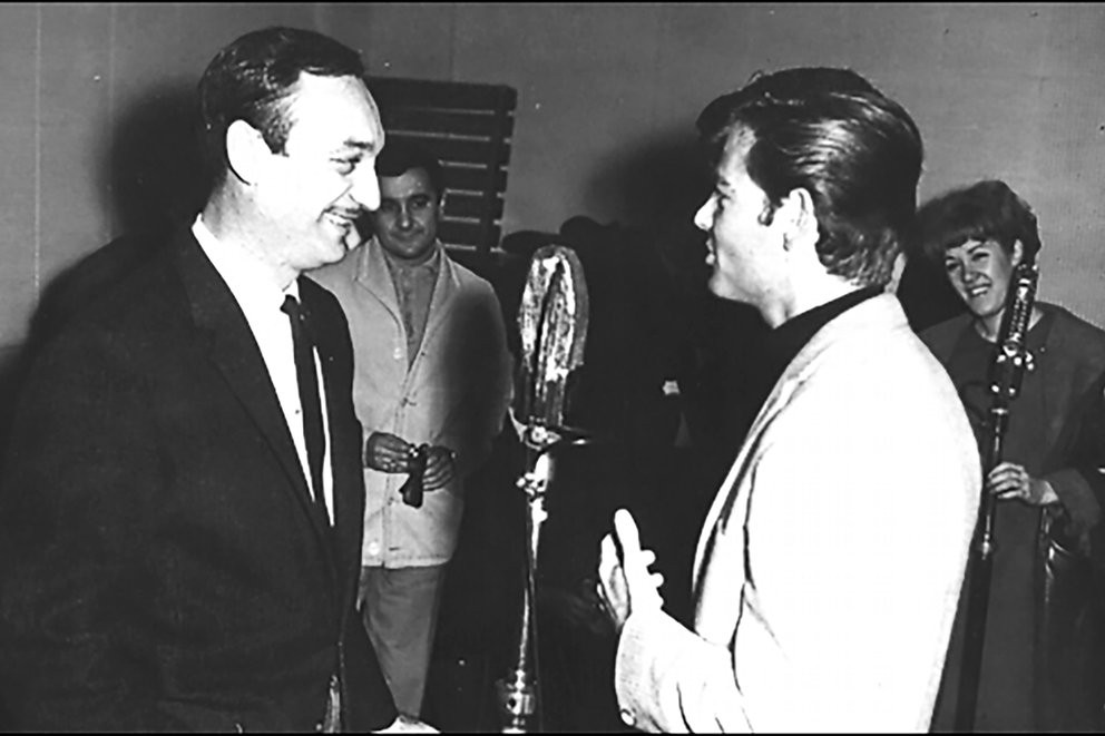 Dean Reed con Antonio Carrizo