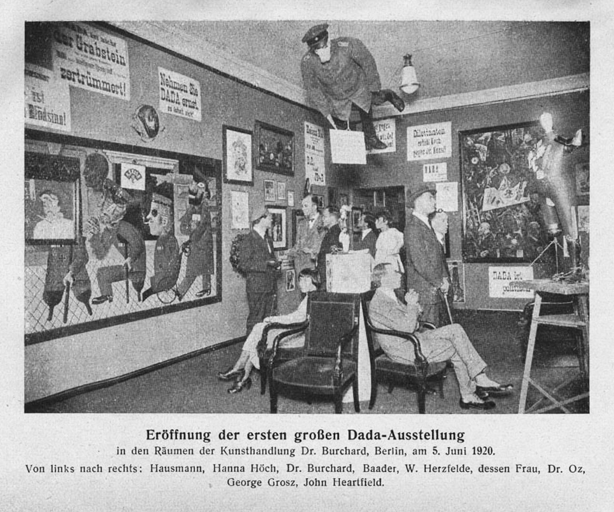 Grand opening of the first Dada exhibition Berlin 5 June 1920