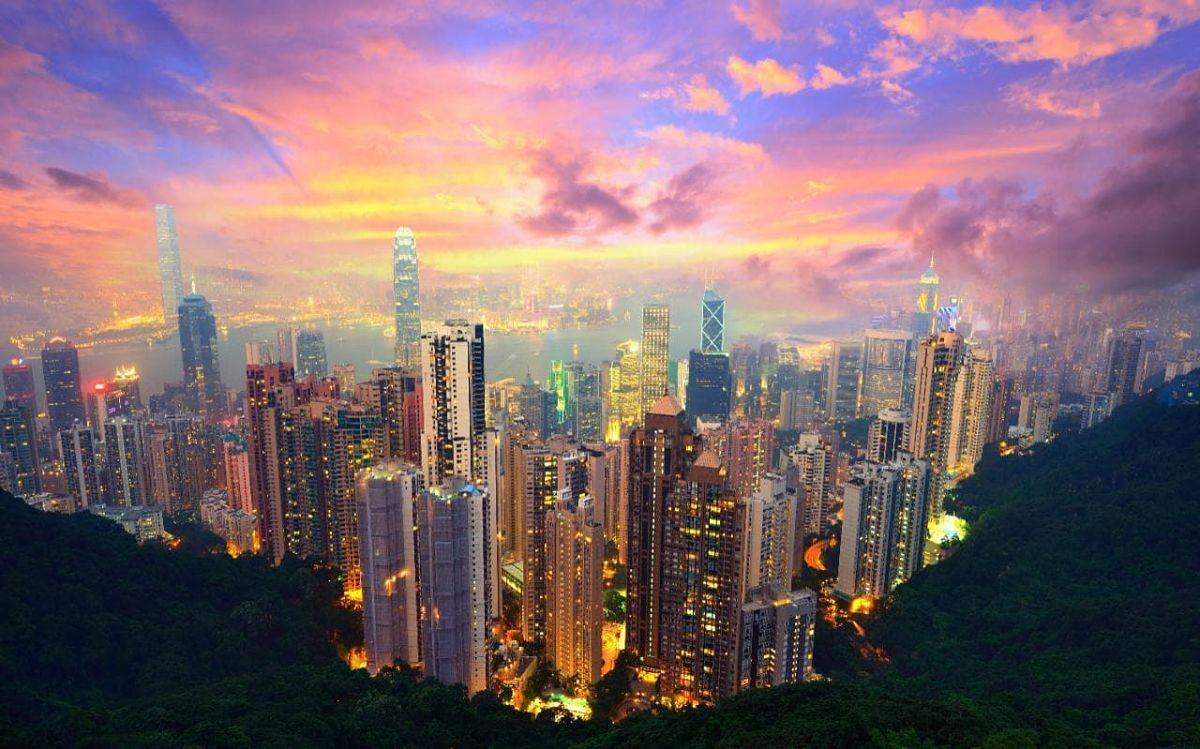 Hong Kong desde Victoria Peak opt