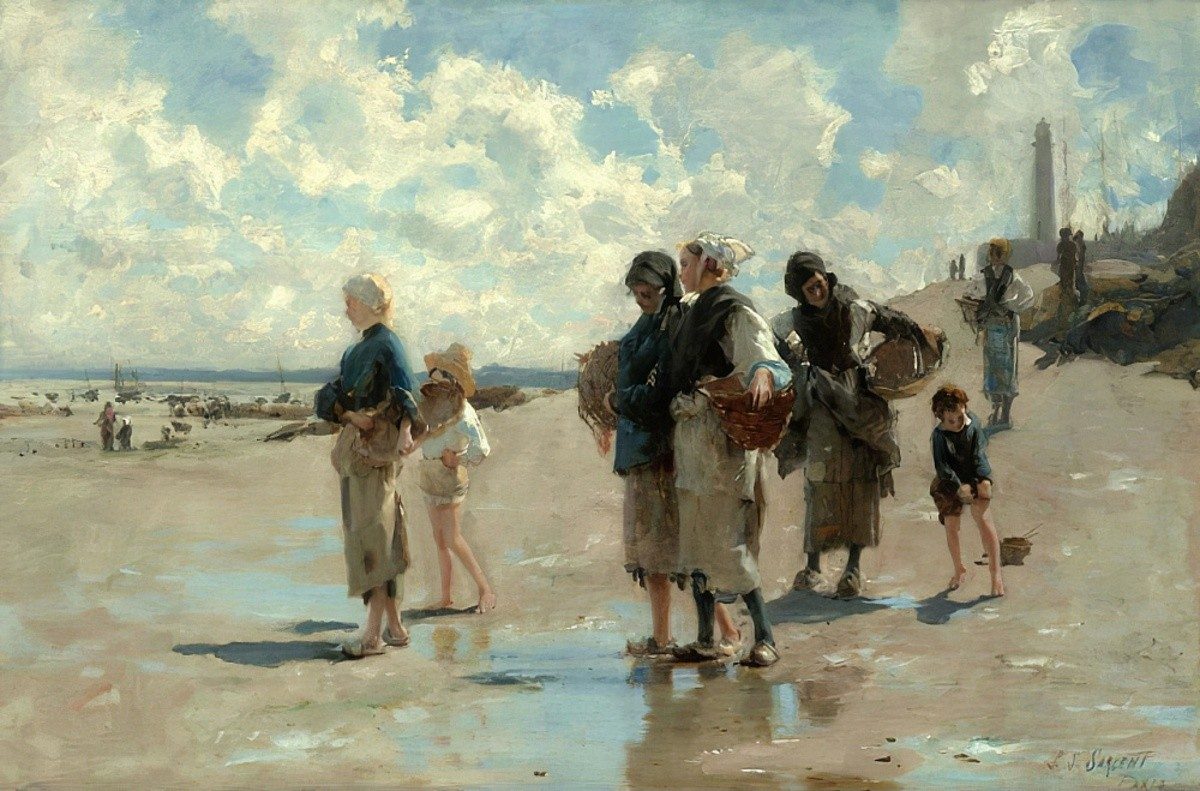 John Singer Sargent Oyster Gatherers of Cancale 2 MeisterDrucke 859022