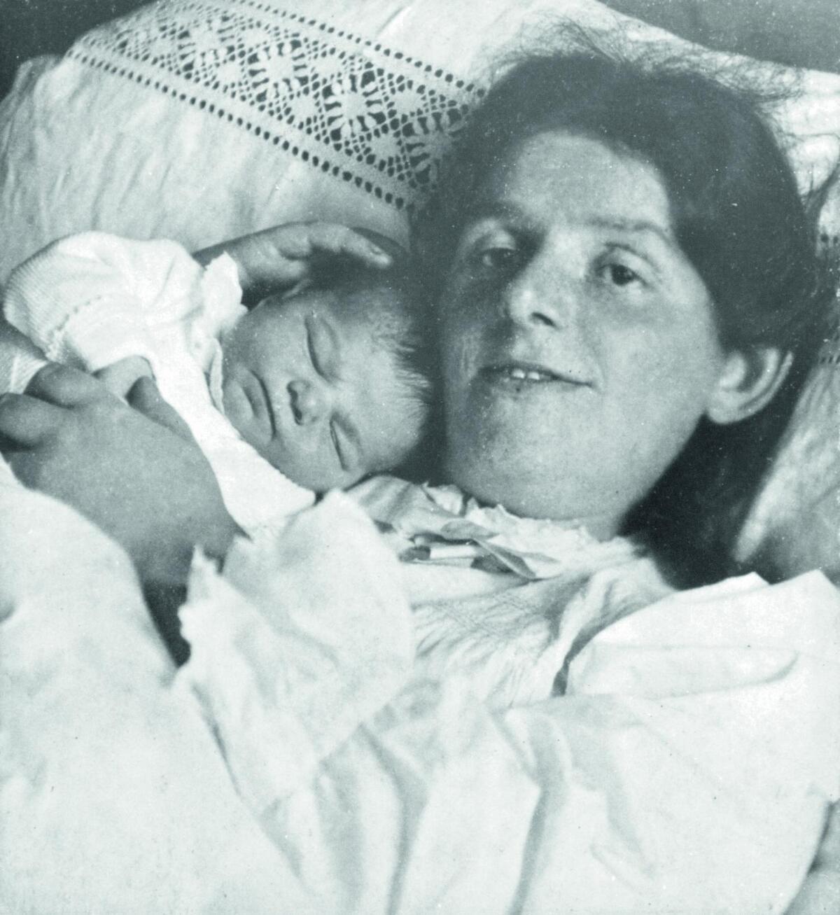 Paula Modersohn Becker mit Tochter Mathilde November 1907 web