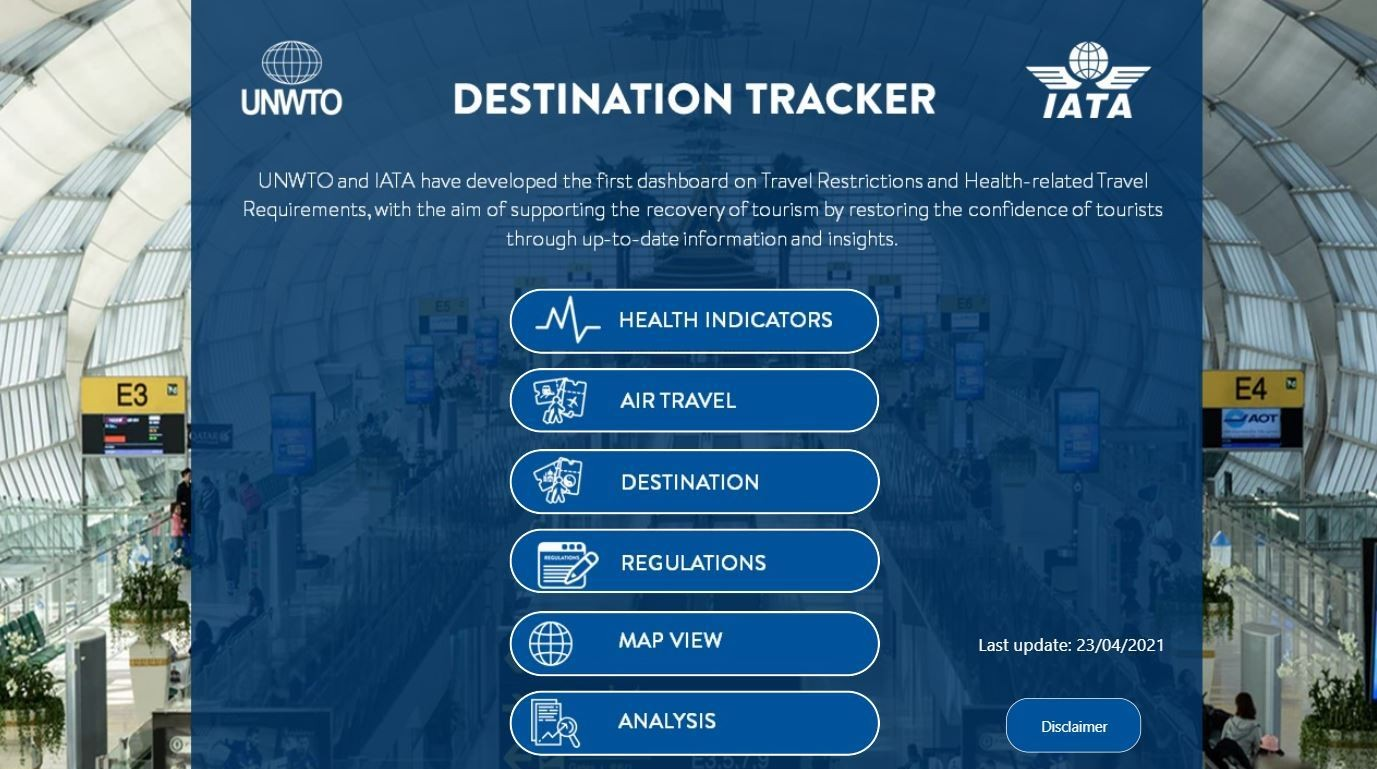 El rastreador de turismo es como un GPS de riesgos Covid-19.