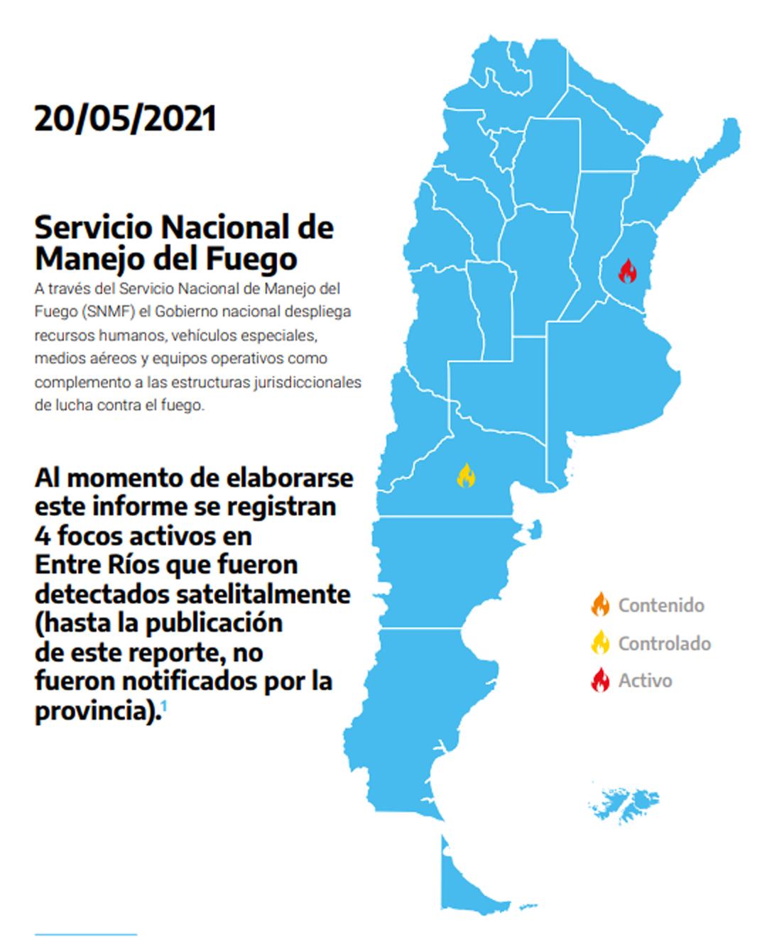 Foto: Servicio Nacional de Manejo del Fuego (SNMF)
