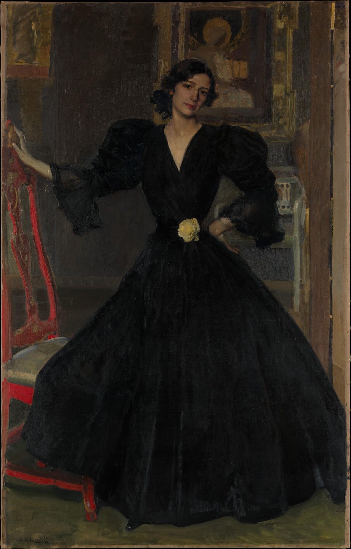 Señora de Sorolla Clotilde García del Castillo 18651929 in Black MET DP168810