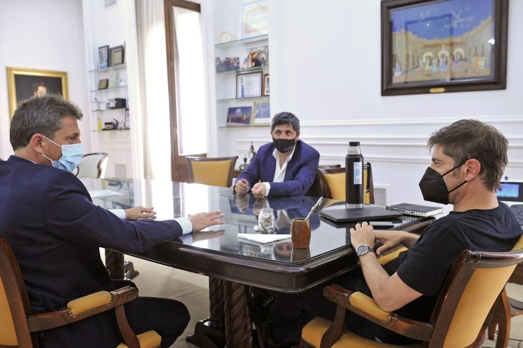 Luego de la firma del acuerdo, Marcelo Figoli se reunió con Axel Kicillof y Sergio Massa para ultimar los detalles para la reapertura del parque.