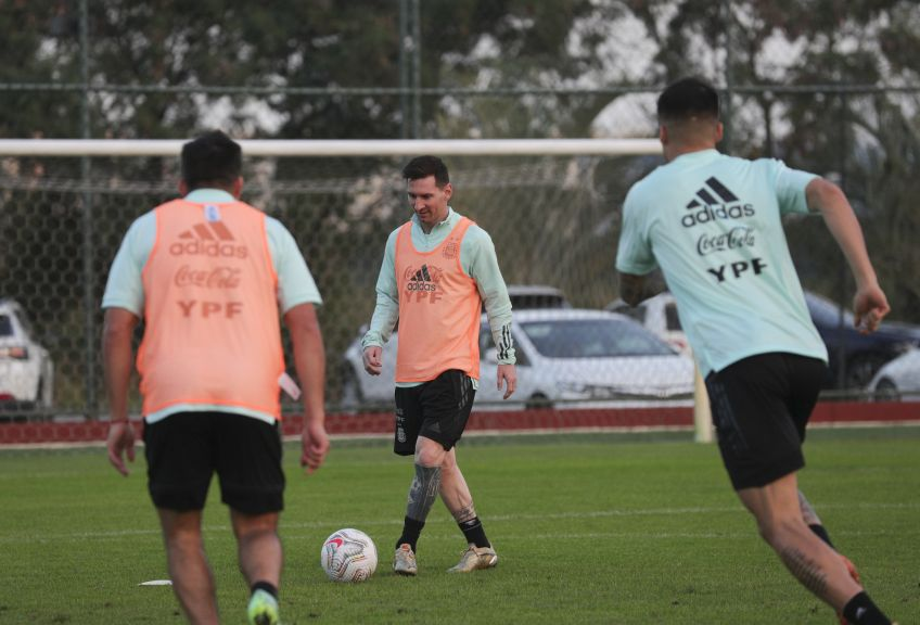 copaamerica argentina entrenamiento previo final 2