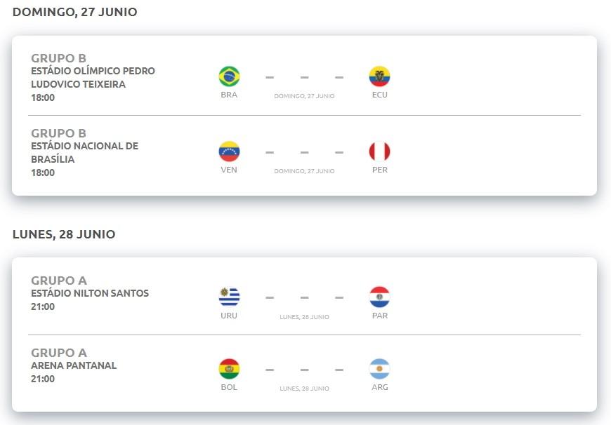 copaamerica fecha5 resultados