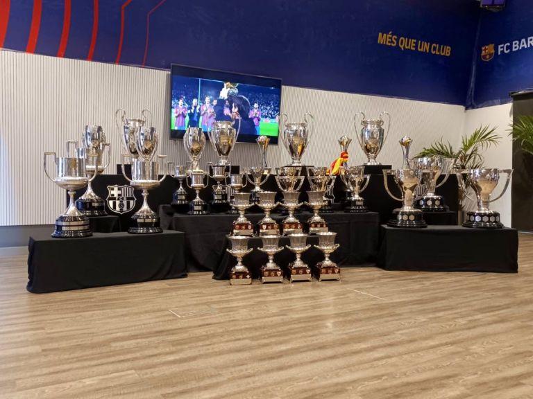 messi barcelona trofeos