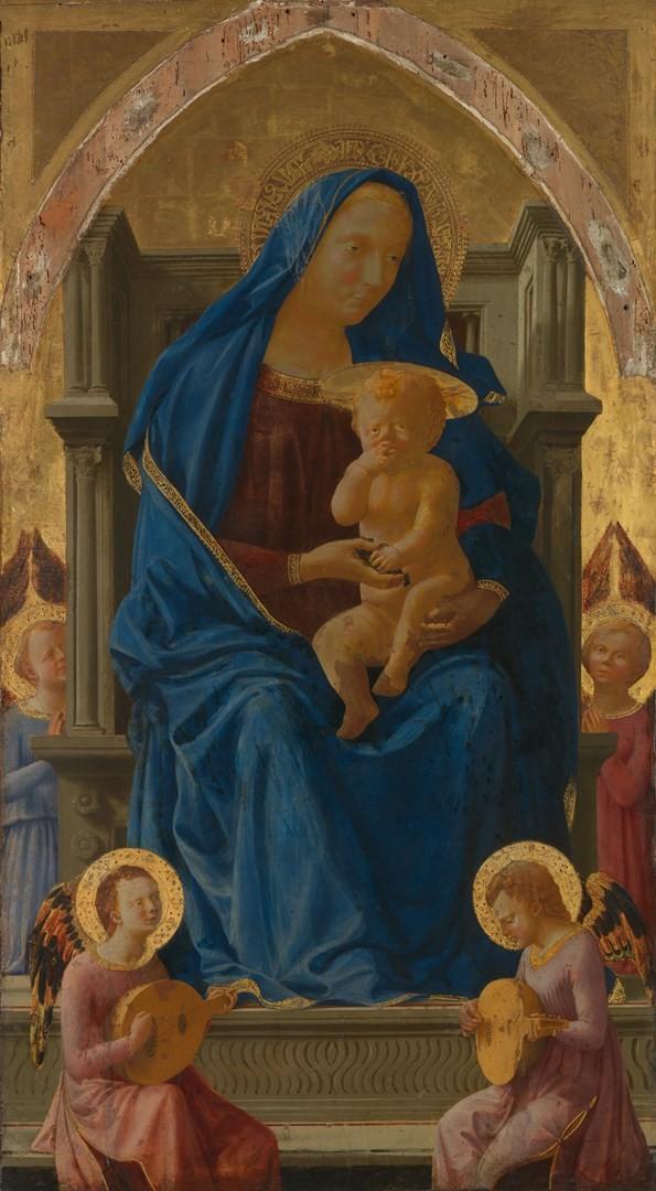 Madonna en el trono
