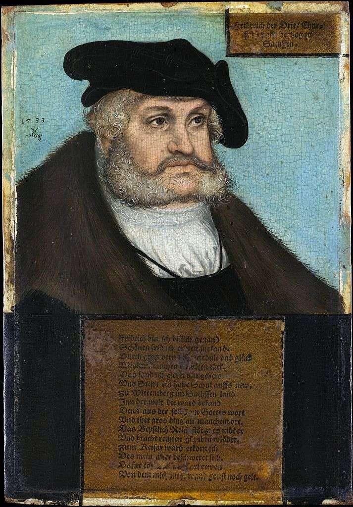 retrato de federico el sabio lukas cranach 1