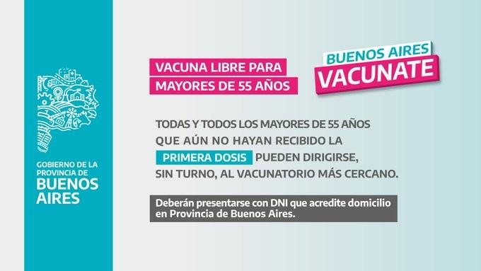 vacunacion covid provincia libre
