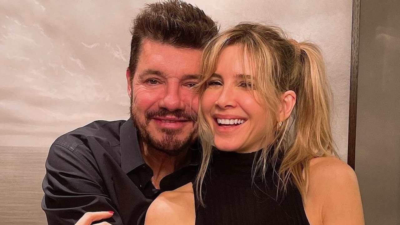 Marcelo Tinelli y Guillermina Valdés.