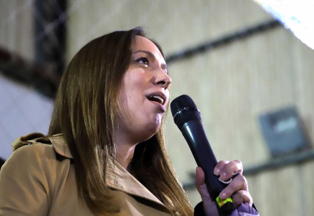 La candidata a diputada nacional de Juntos por el Cambio en la Ciudad, María Eugenia Vidal.
