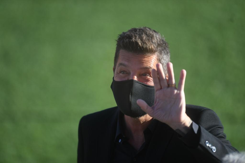 Marcelo Tinelli, presidente de la Liga