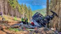 Revelan impactantes imágenes del teleférico que cayó en Italia y causó la muerte de 14 personas