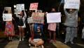 Protestas frente a la Casa de Formosa en Buenos Aires contra el gobierno provincial