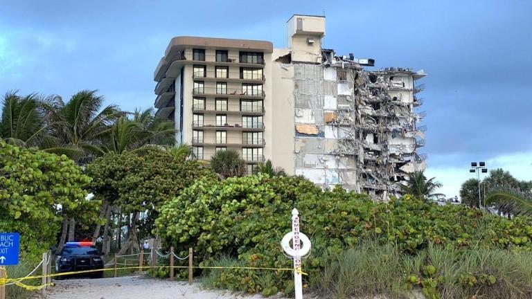 Se derrumbó parte de un edificio cerca de Miami Beach: una mujer murió y hay 99 desaparecidos
