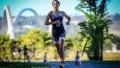 Pese a complicaciones físicas, Romina Biagioli completó la  prueba de triatlón y finalizó en el puesto 33