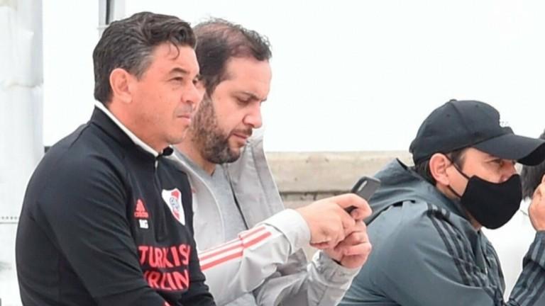Gallardo no descansa: tras obtener la Supercopa Argentina, estuvo viendo a la Reserva de River
