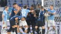 Lazio le ganó al Inter en un partido con final caliente en el Olímpico de Roma