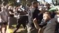 Se registraron incidentes frente a la Quinta de Olivos entre manifestantes y sindicalistas